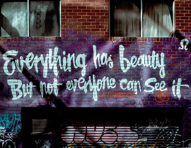 Everything has beauty. But not everyone can see it